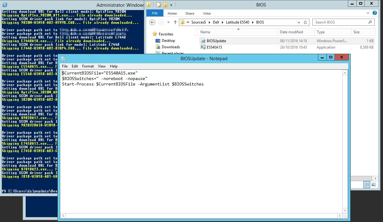 SCCM Dell Client Bios & Driver Autodownload PowerShell Script – IT