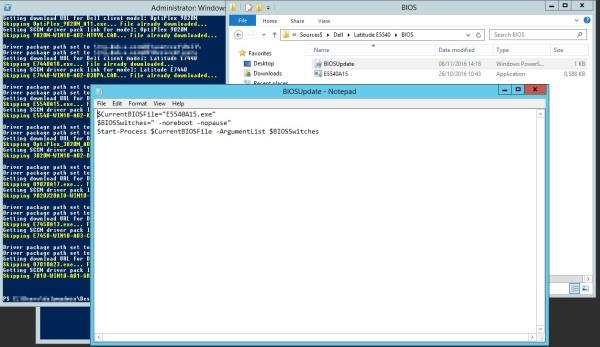 SCCM Dell Client Bios & Driver Autodownload PowerShell