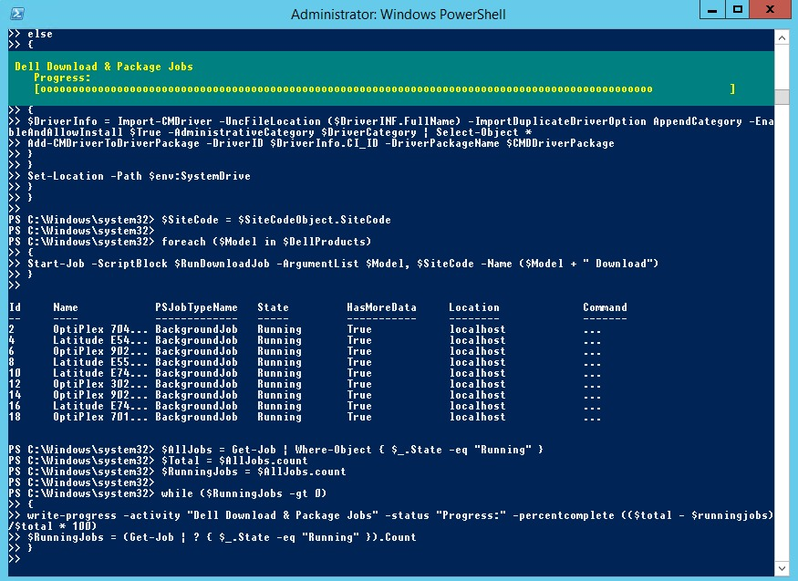 SCCM Dell Client Bios & Driver Autodownload PowerShell